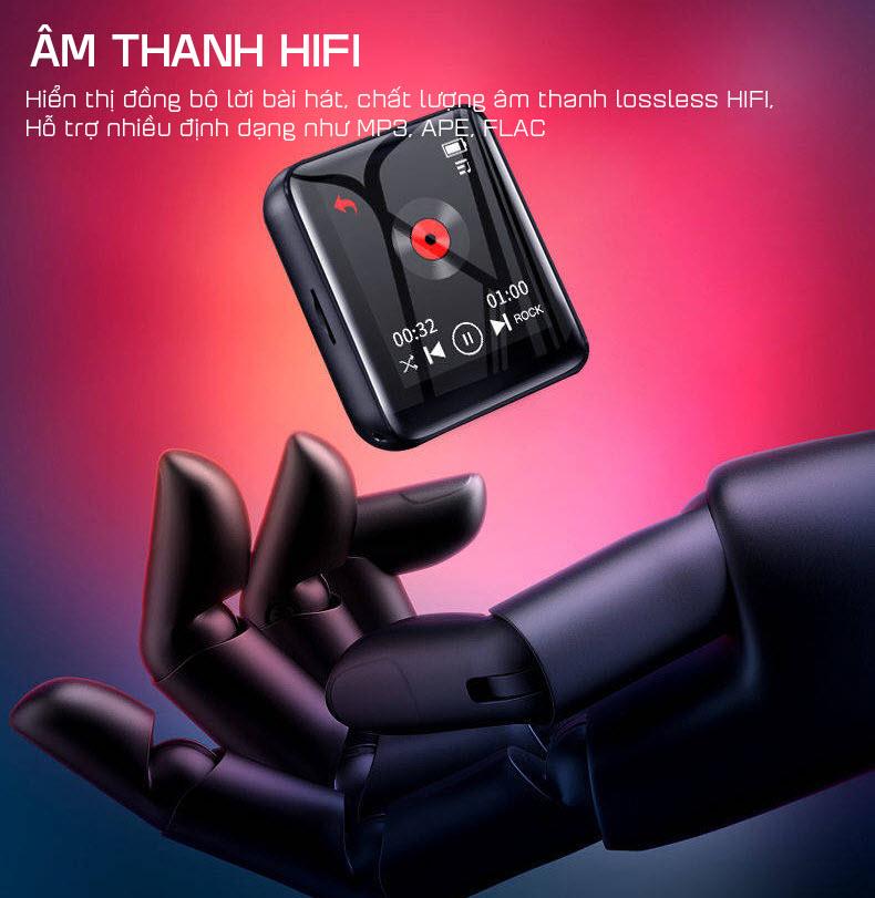 Máy Nghe Nhạc MP3 Ruizu M4 Bộ Nhớ Trong 16Gb - Màn Hình Cảm Ứng 1.8 Inch - Kết Nối Bluetooth 4.0 - Hàng Chính Hãng