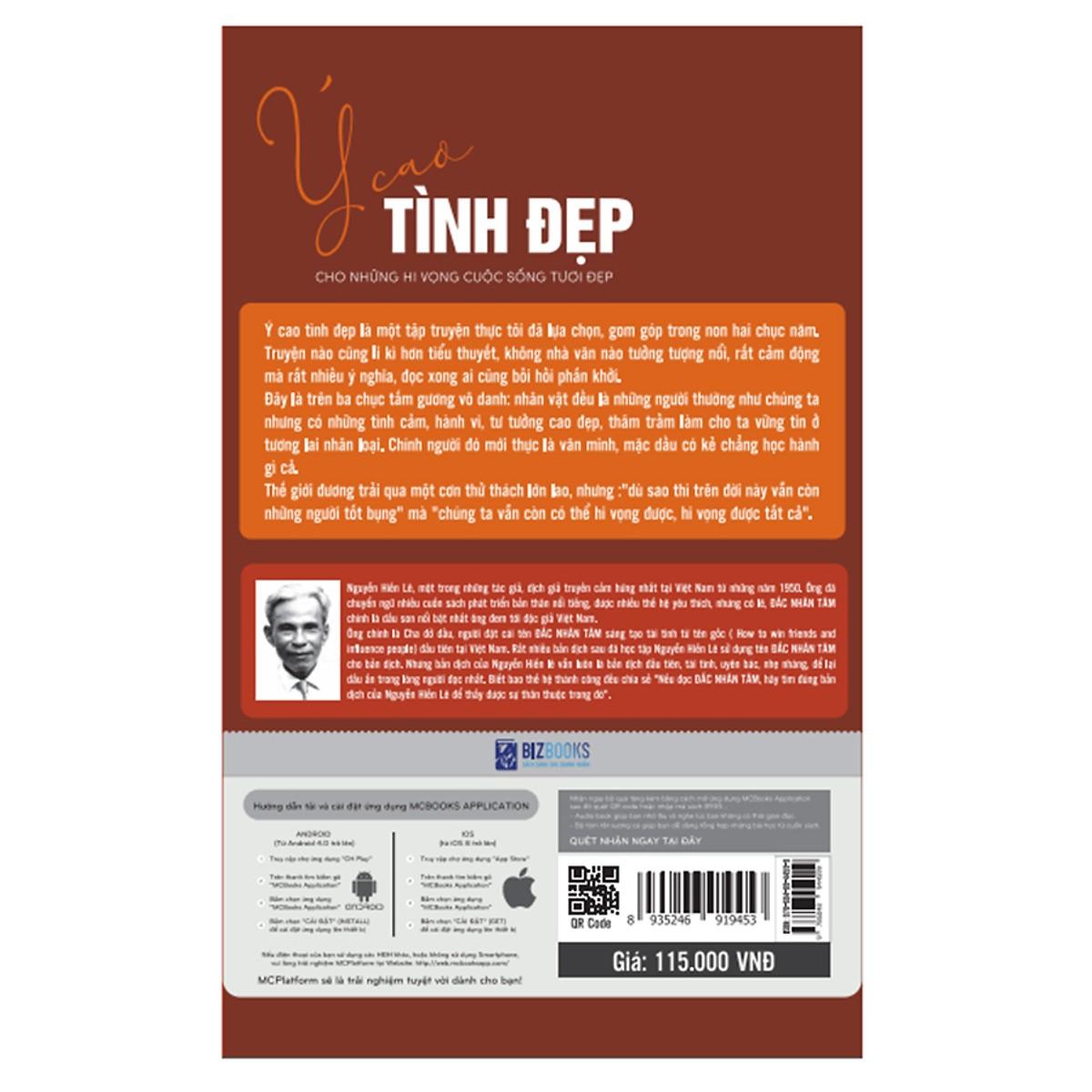 Ý Cao Tình Đẹp - Cho Những Hy Vọng Cuộc Sống Tươi Đẹp ( tặng kèm Bookmark tuyệt đẹp )