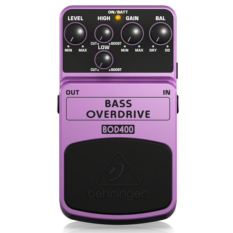 Guitar Stompboxes- PEDAL - Phơ cục - Fuzz - Behringer BOD400 BASS OVERDRIVE-Hàng chính hãng