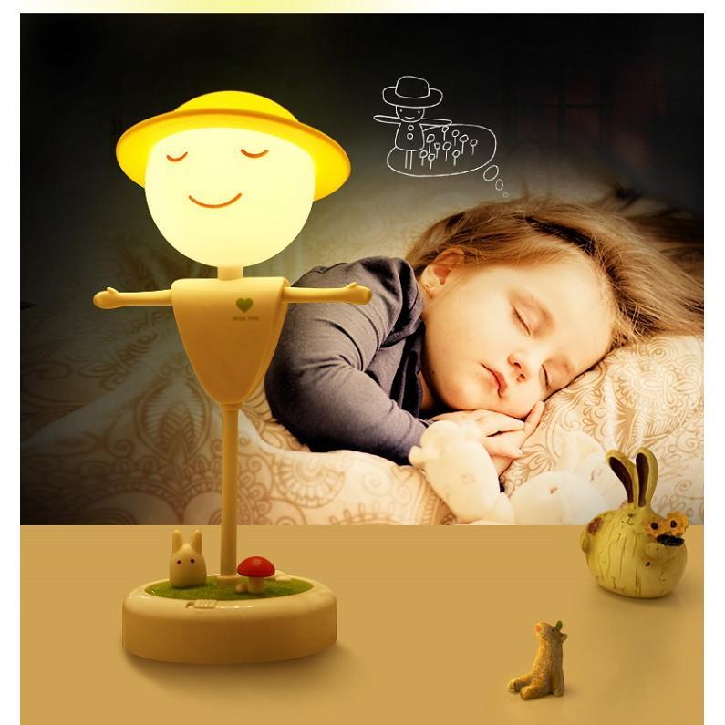 Đèn ngủ cảm ứng mô hình bù nhìn rơm