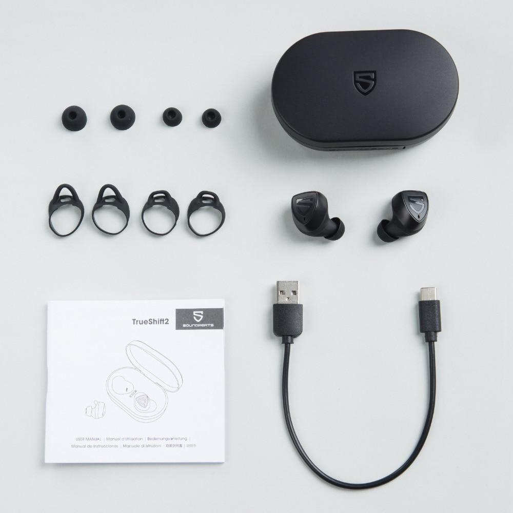 Tai Nghe True Wireless SOUNDPEATS TRUESHIFT 2 Tích Hợp Sạc Dự Phòng 3000mAh - Hàng Chính Hãng
