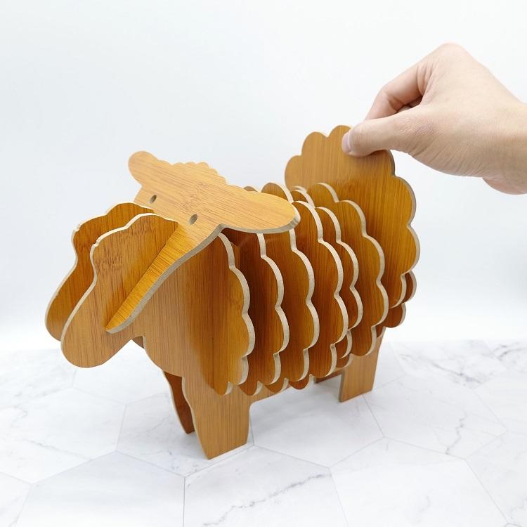 Bộ đế Lót ly bằng gỗ hình con Cừu