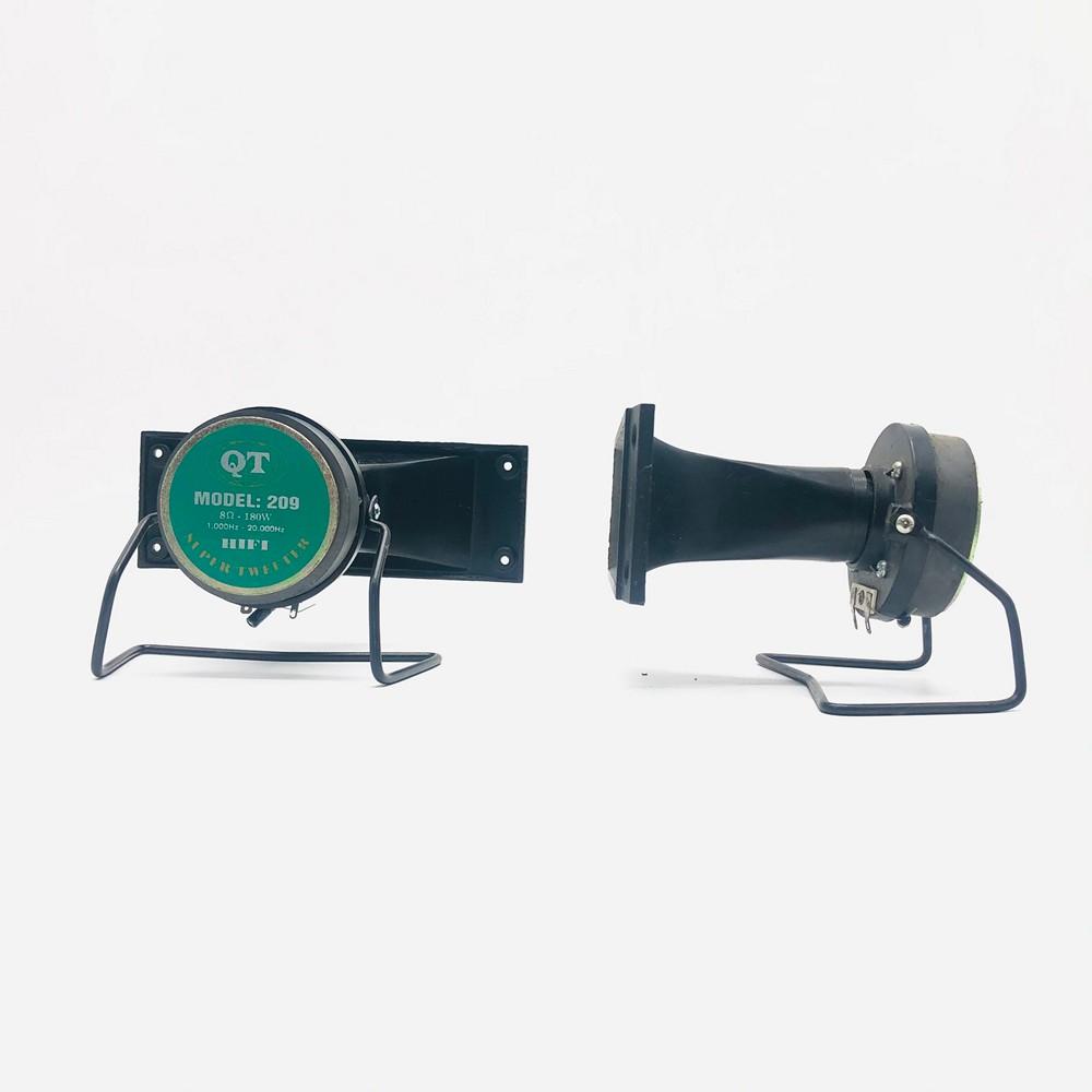 Đôi loa treble kèn QT-209 H2Pro 180W-8 ôm-từ 70, loa treble nam châm rời cao cấp