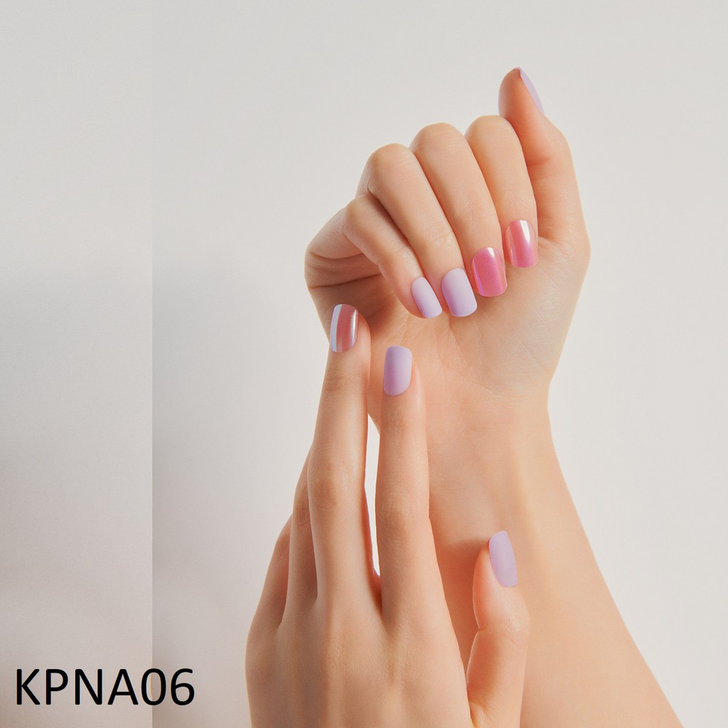 Bộ 30 Móng Tay Gel Dán Press & Go Kiss New York Nail Box - Cool Lavender (KPNA06K)