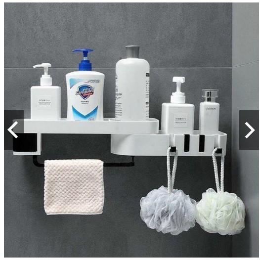 Kệ góc xoay 180° đựng đồ đa năng thông minh nhà tắm dính tường siêu chắc chắn