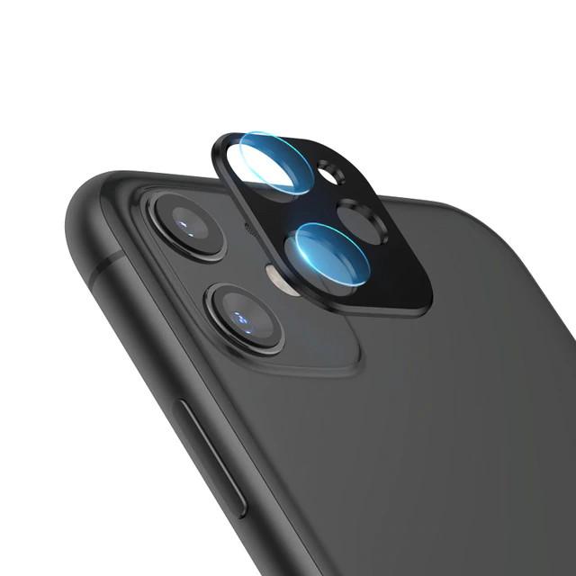 Bộ miếng dán kính cường lực& khung viền bảo vệ Camera cho iPhone 11 (6.1 inch) hiệu Totu (độ cứng 9H, chống trầy, chống chụi & vân tay, bảo vệ toàn diện) - Hàng nhập khẩu