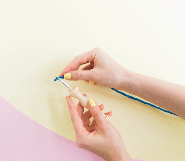 Kim Thêu Nổi Thêu Len Kiểu Oxford Dùng Len Đơn Cỡ Vừa Cán Gỗ Dành Cho Người Mới Bắt Đầu Oxford Punch Needle #8 Fine for Beginner