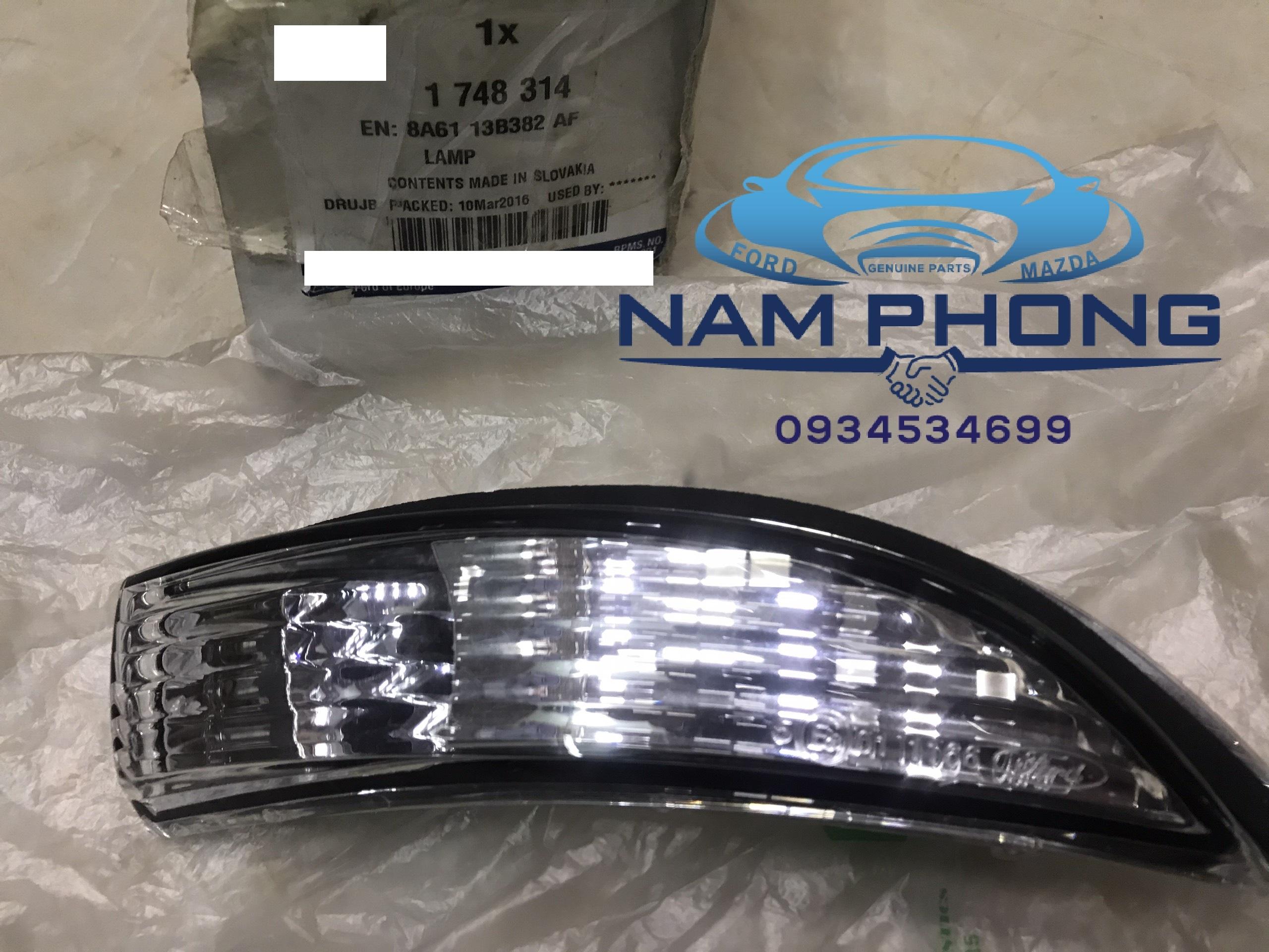 Đèn xi nhan trên gương Fiesta 16 RH LH  -  8A6113B382AF / 8A6113B381AF , Sử dụng cho các dòng xe Fiesta từ đời  2014 – 2018 , LAMP SD FLASHER RH