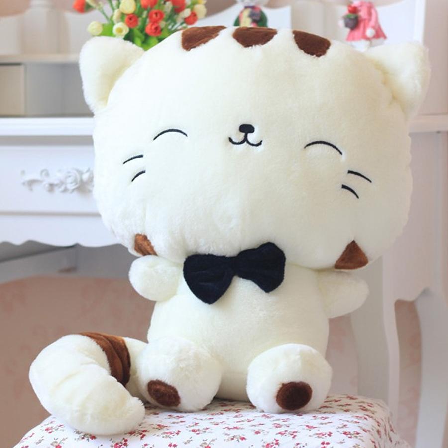 Gấu Bông Mèo Trắng Đầu To (35 cm)