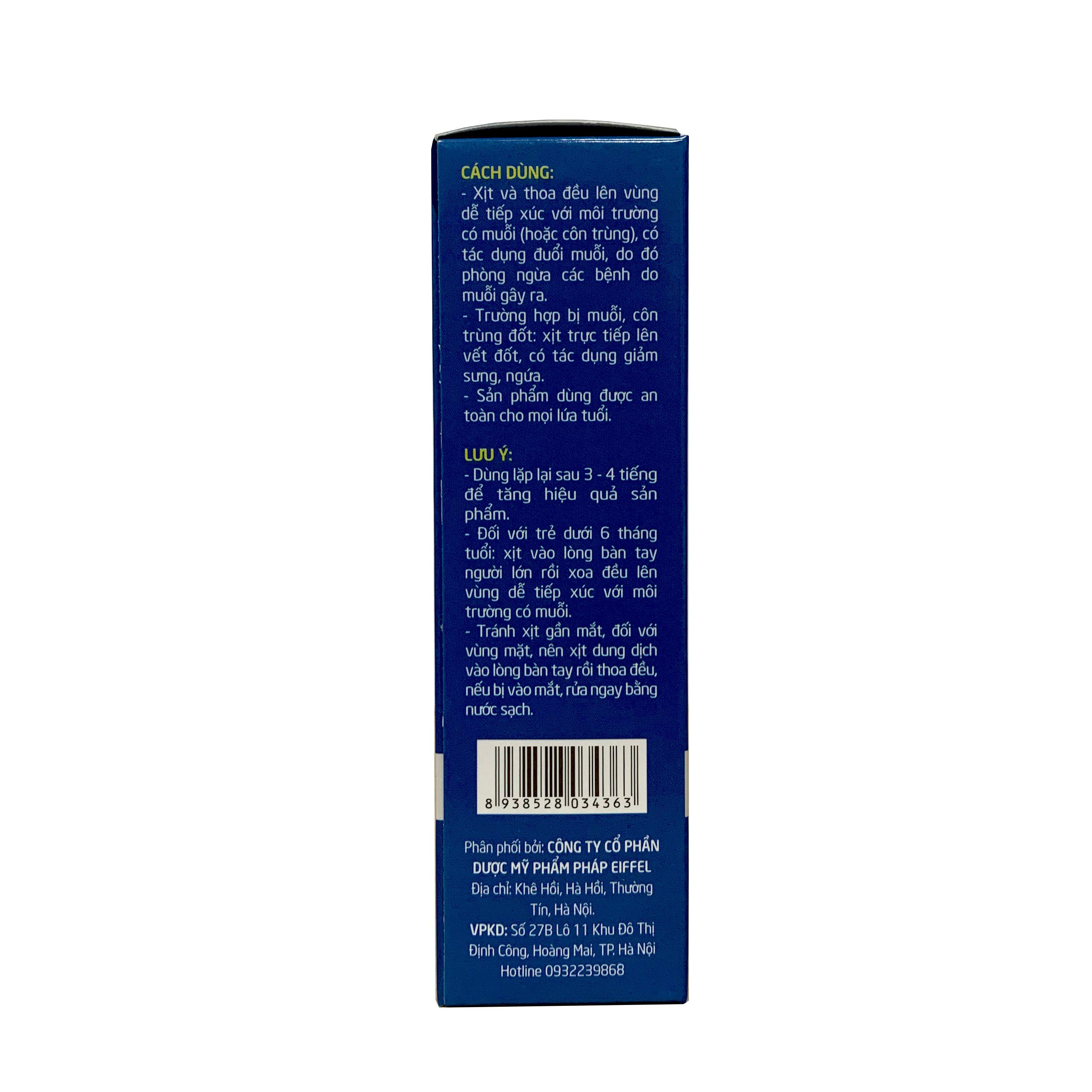 Xịt muỗi, chống côn trùng đốt từ tinh dầu thiên nhiên Tân Thành- chai/ 50ml