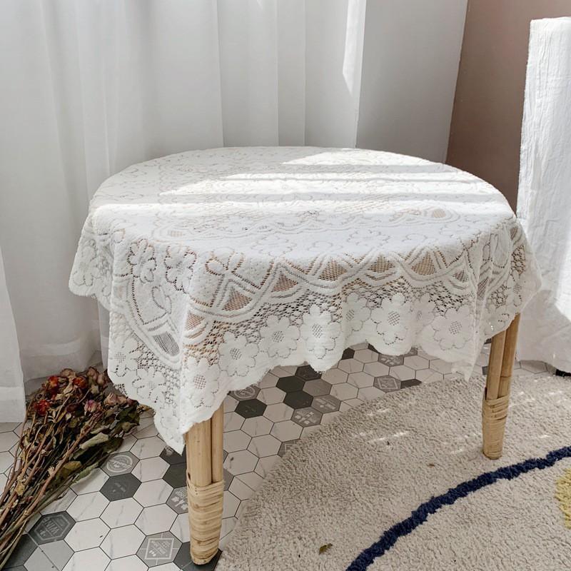 Khăn Trải Bàn Phối Ren Hoa Phong Cách Vintage (Nhiều kích thước tùy chọn) - CÓ SẴN