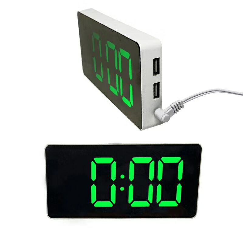 Đồng hồ để bàn hiển thị màn hình LED  cao cấp, sang trọng ( Tặng kèm bộ 6 con bướm dạ quang phát sáng )