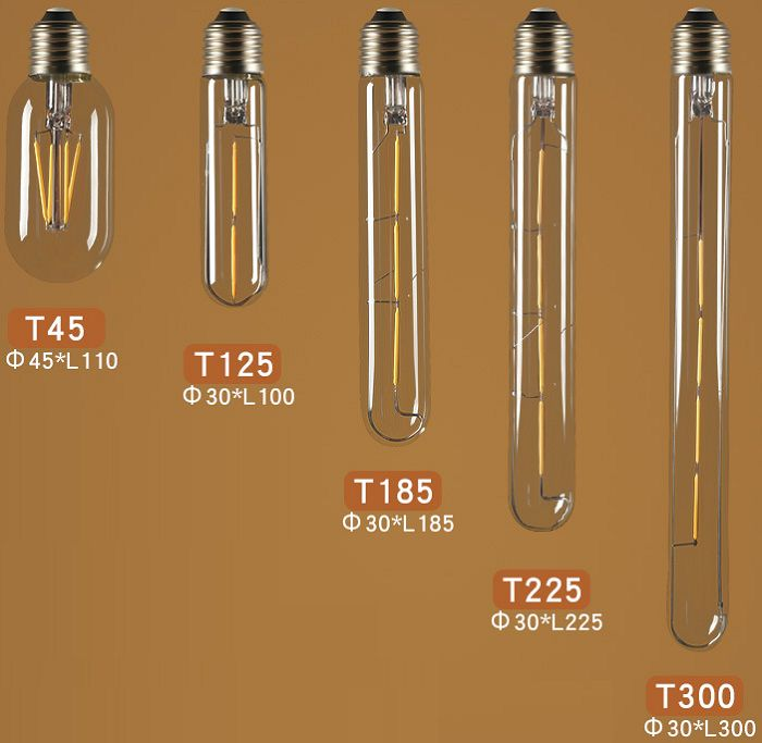 Bộ 3 bóng đèn Led Edison T125 4W đui E27.