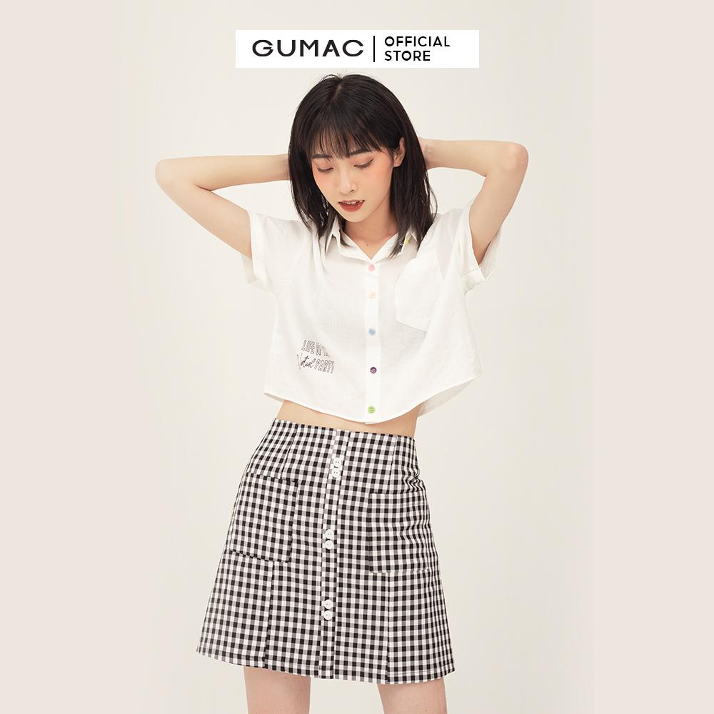 Áo kiểu nữ nút nhiều màu GUMAC AB385