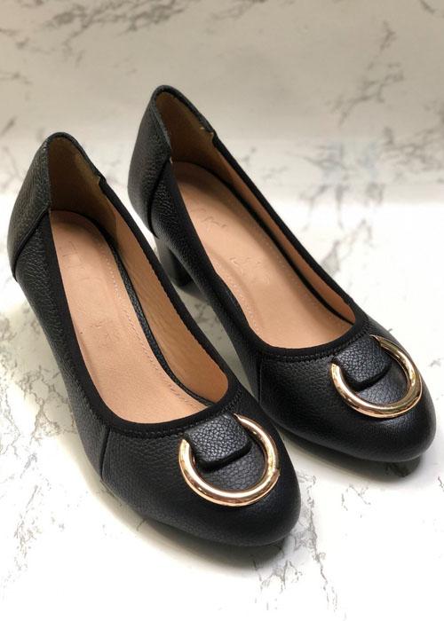 Giày búp bê gót vuông-BG007