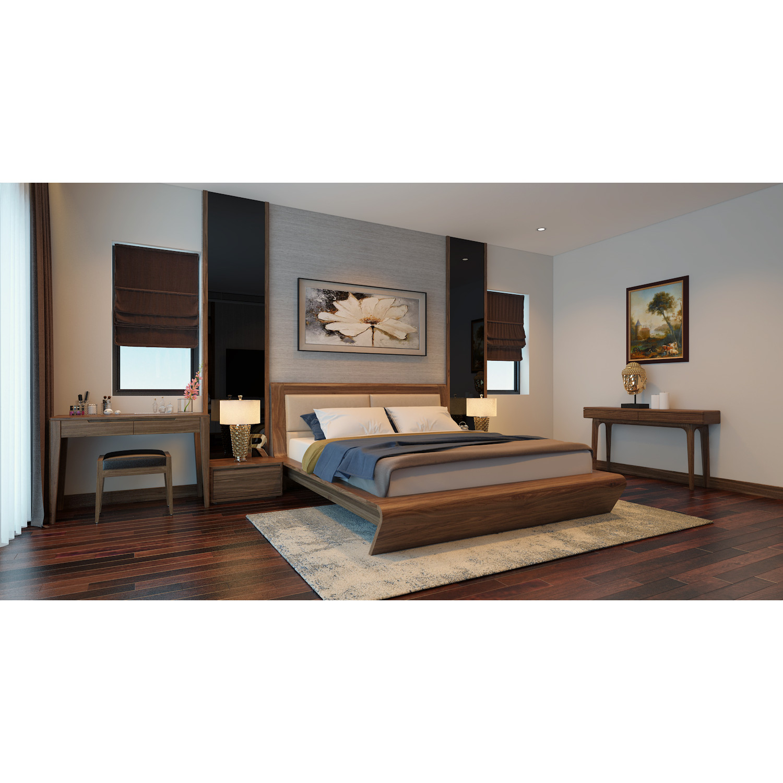 Giường ngủ gỗ óc chó - GIUONG/001