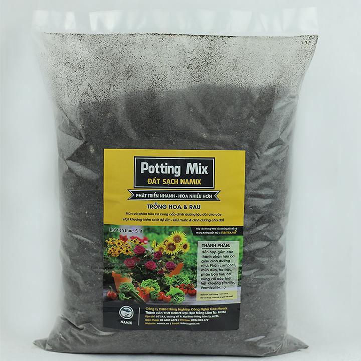 Đất trồng rau và hoa Namix (All Purpose Potting Mix) - Gói 5 dm3 (Lít)