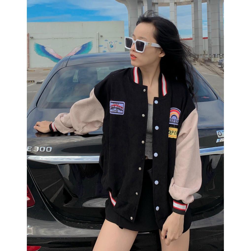 áo khoác nhung kiểu bomber, áo khoác nhung, áo khoác nữ, áo khoác