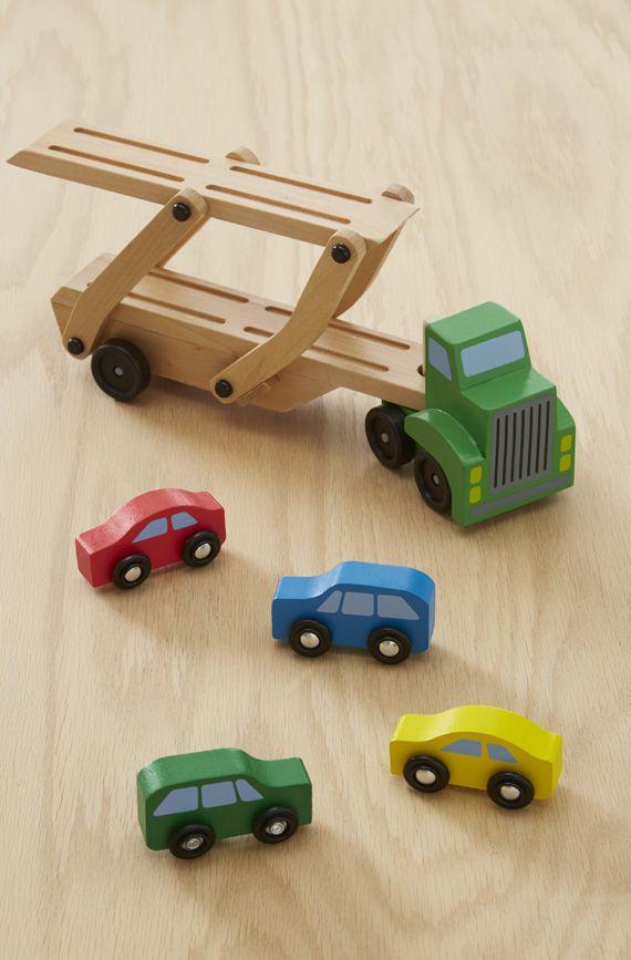 Đồ chơi gỗ xe chở ô tô 2 tầng