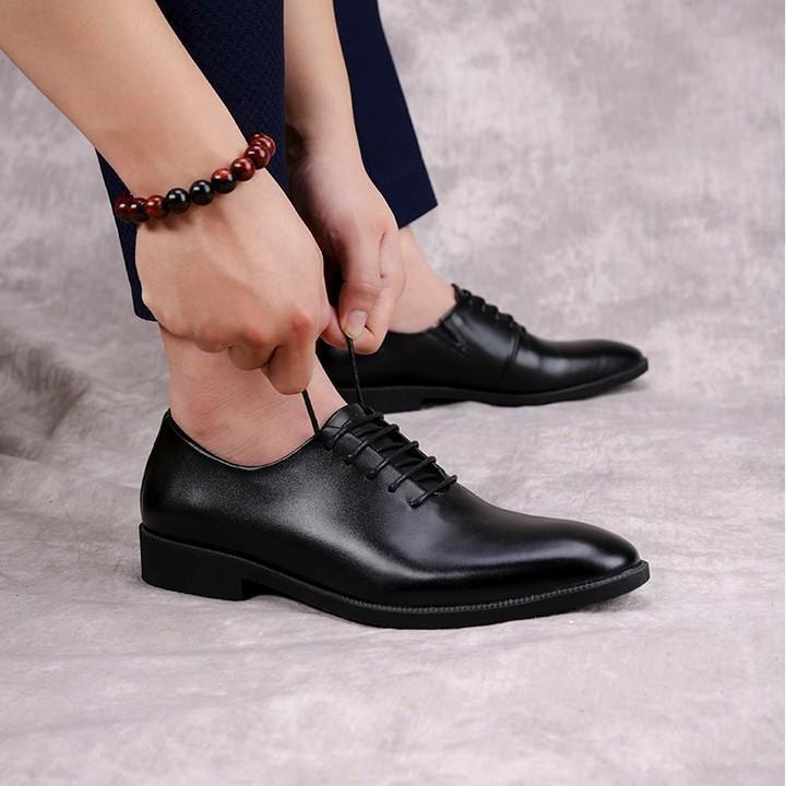 Giày... Tây Nam Buộc Dây Sang Trọng Lịch Lãm - Kiểu Dáng Giày Ý - Đế Cao Cấp Da Mềm Đế Êm Chân
