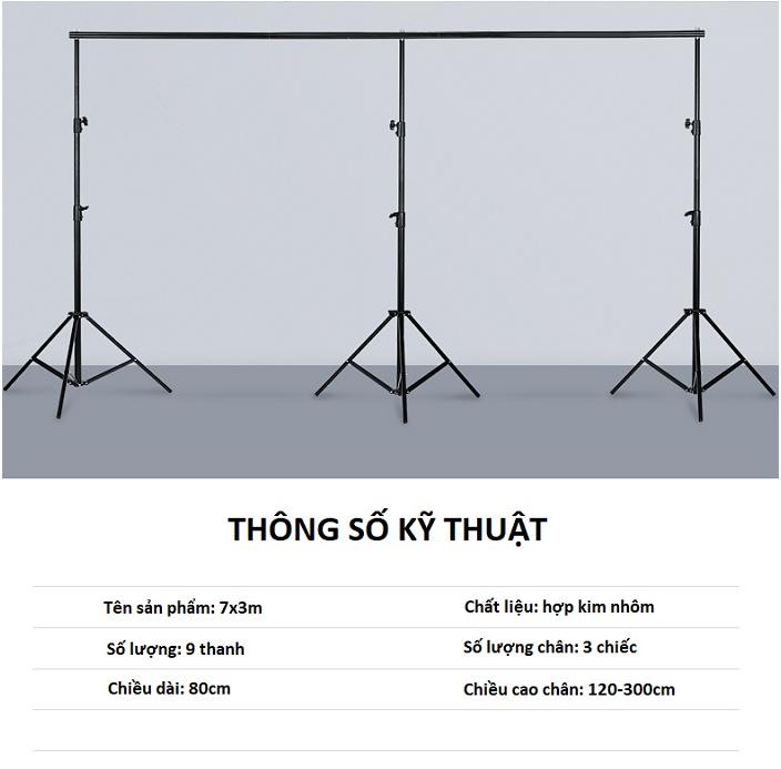 KHUNG TREO PHÔNG DI ĐỘNG 3X7M