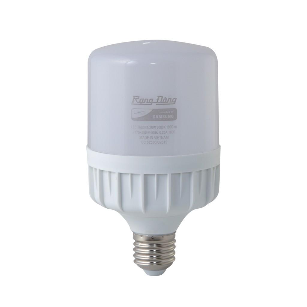 Đèn LED BULB TRỤ 20W Rạng Đông, Chip LED Sam Sung