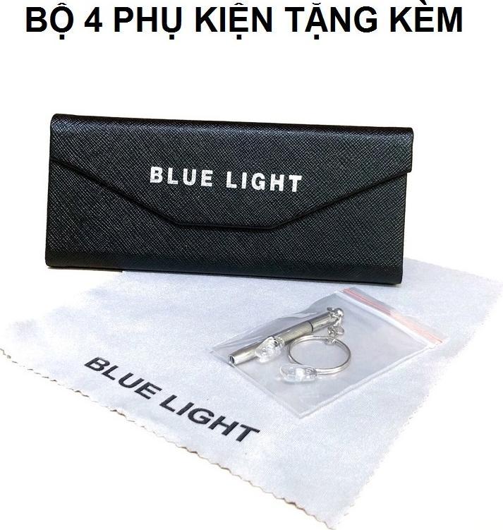 Kính Giả Cận,  Gọng Kính Cận Nam Nữ Mắt Vuông Gọng Đen Mảnh Nhẹ Không Độ Hàn Quốc - BLUE LIGHT SHOP