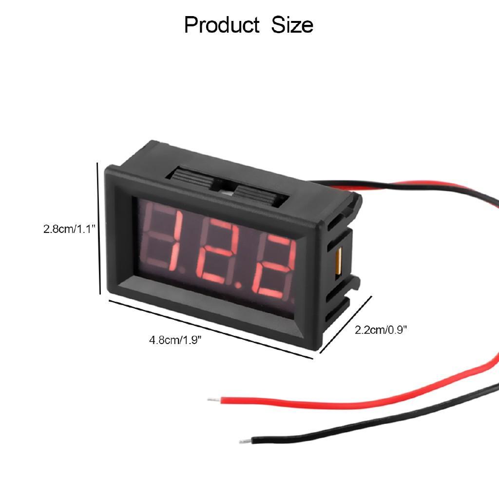 Vôn kế Điện Tử Led Hiển thị 4.5-30VDC và 0-100VDC