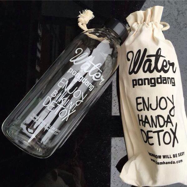 COMBO 2 Bình đựng nước  1000ml kèm túi đựng