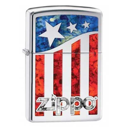 Bật Lửa Zippo 29095 - Bật Lửa Zippo Us Flag Polished Chrome
