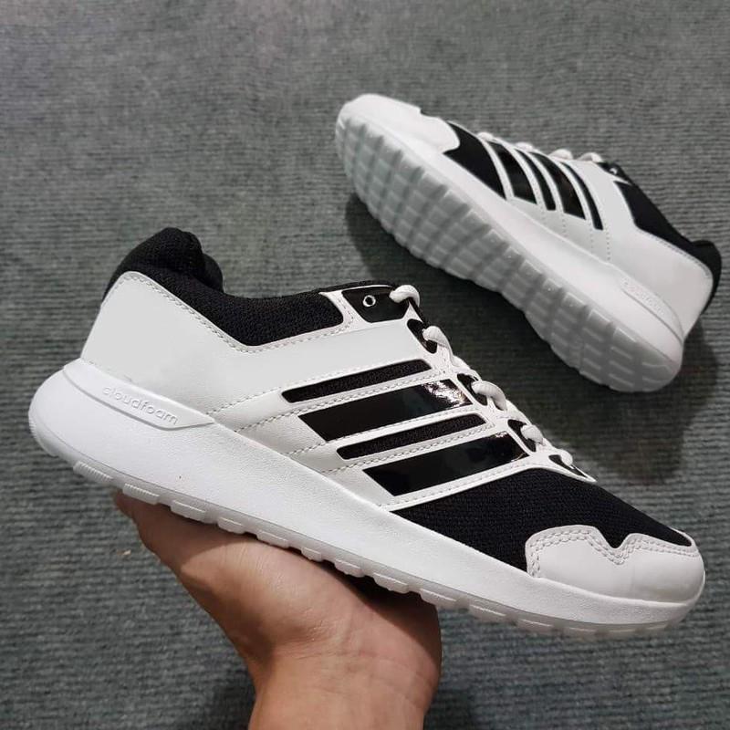 Giày Thể Thao Size Nam và Nữ ( trắng sọc đen)