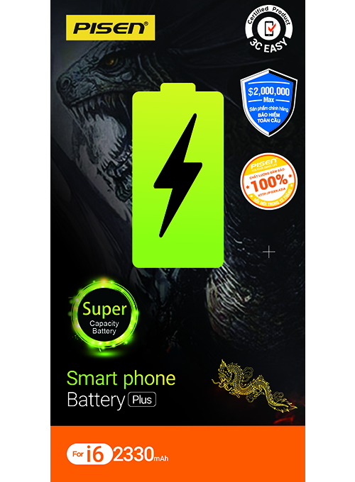 Siêu Pin điện thoại dành cho iPhone 6  PISEN Dragon i6 2330mAh_Hàng chính hãng
