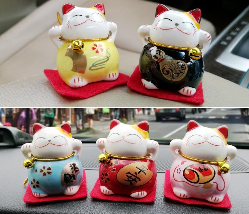 Bộ Tượng 5 Chú Mèo Thần Tài May Mắn và Bình Yên