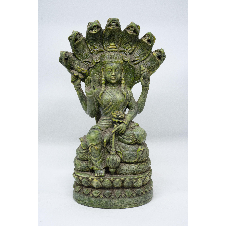 Tượng Phật Bà 7 rắn bằng đá xanh