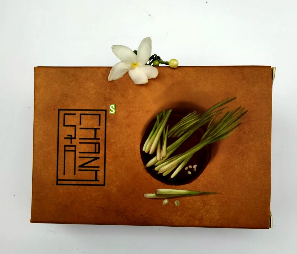 Xà bông Sinh Dược Sả Chanh 100gr mẫu bao bì vẽ mộc, hương tinh dầu sả chanh dễ chịu, làm sạch lỗ chân lông, giúp mát da, chống côn trùng, chống viêm
