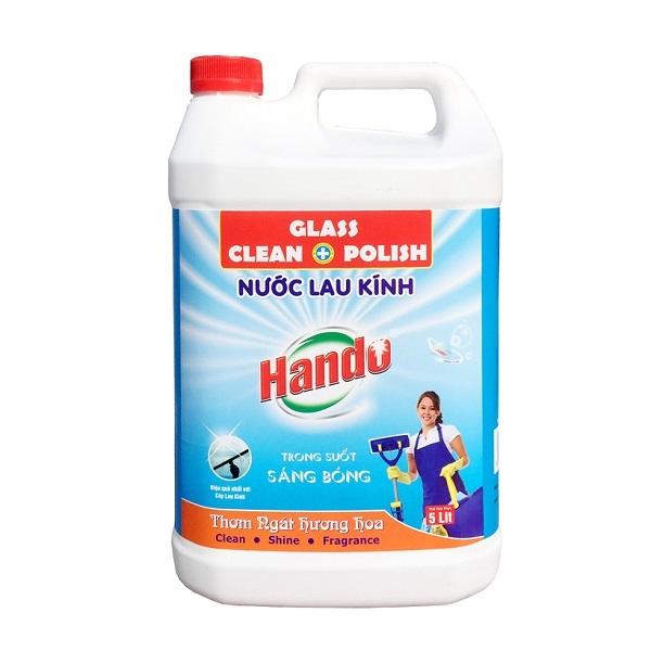 Nước lau kính siêu sạch an toàn Hando 5L hương bạc hà