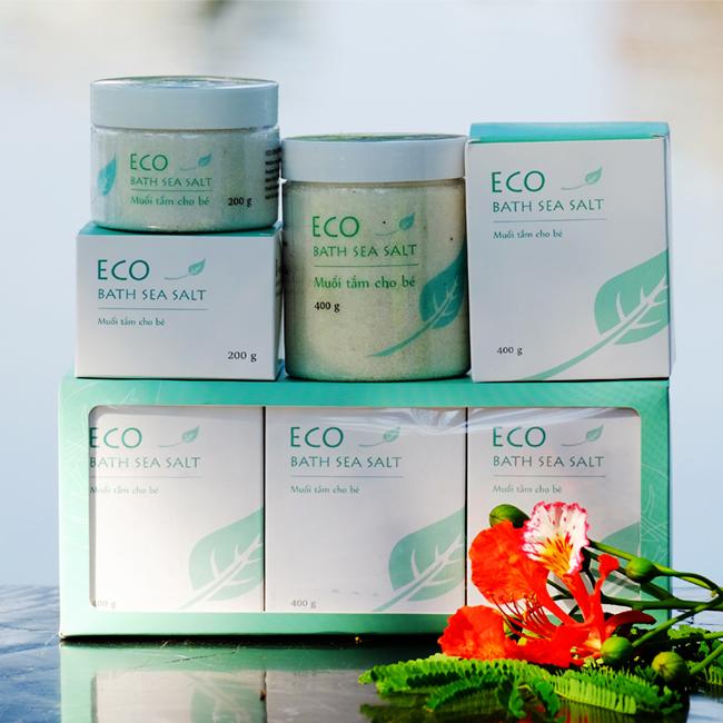 Muối Tắm Bé ECO 200g - Muối Tắm Bé Thảo Dược 100% Tự Nhiên