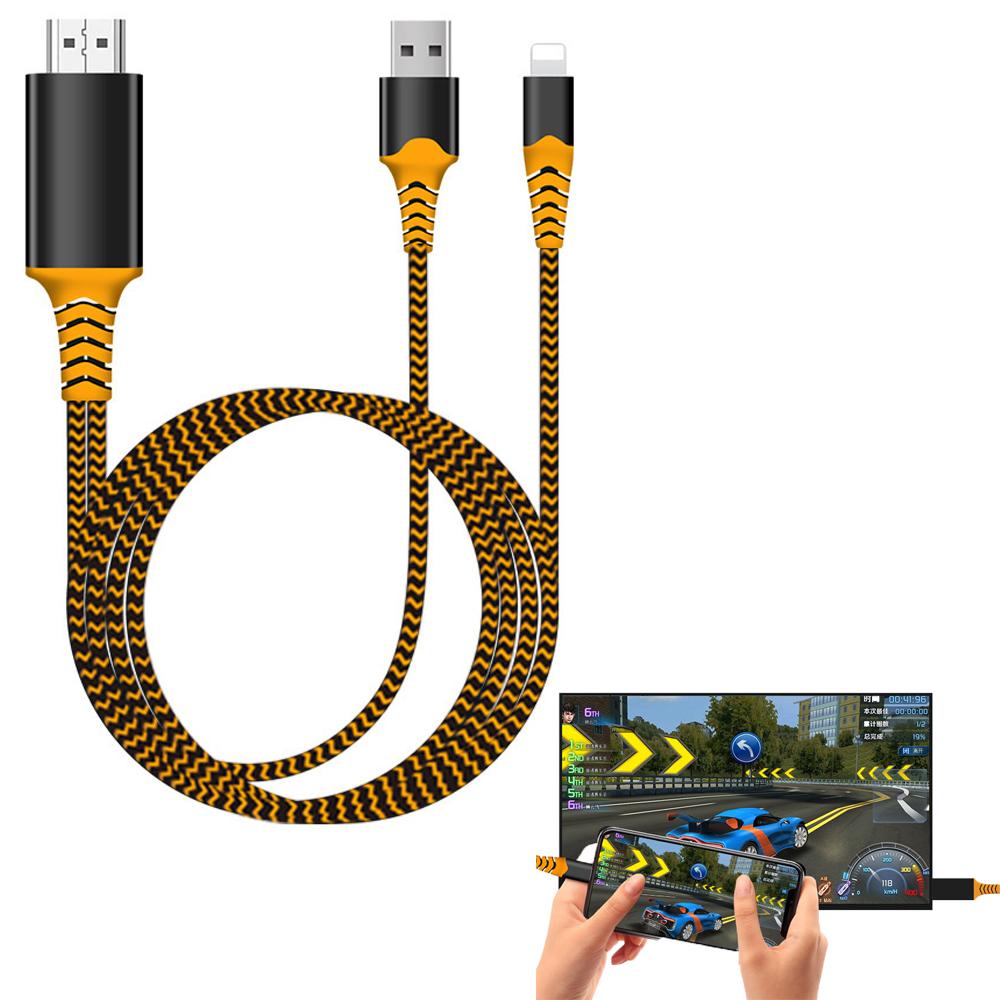 Cáp HDMI FullHD cho iPhone, iPad - hỗ trợ iOS 12 - Hàng Nhập Khẩu