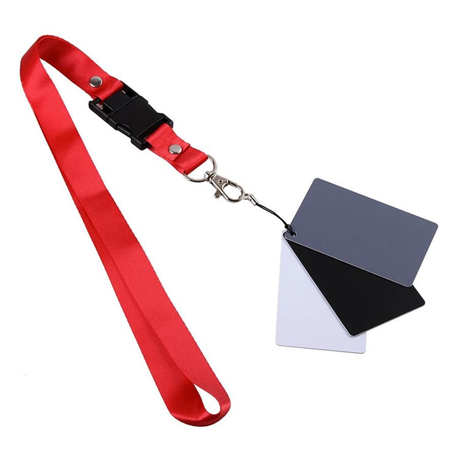 Thẻ Cân Bằng Trắng 3 Màu JYC (Đen) - Hàng Nhập Khẩu