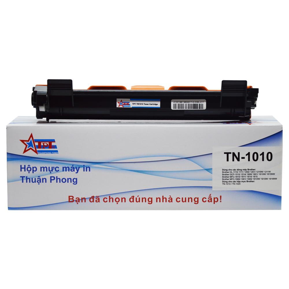 Hộp mực Thuận Phong TN-1010 dùng cho máy in Brother HL-1110/ 1111/ 1200/ 1201/ 1210/ 1211/ DCP-1510/ 1511/ 1514/ 1600/ 1601/ MFC-1810/ 1811/ 1815/ 1900/ 1905/ 1910/ 1915 - Hàng Chính Hãng