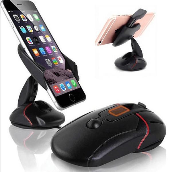 Giá đỡ điện thoại dùng trên ô tô và các loại mặt phẳng gấp gọn hình chuột