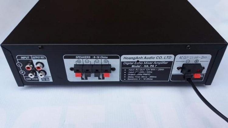 Ampli karaoke Oriole 220V hoặc 12V 2