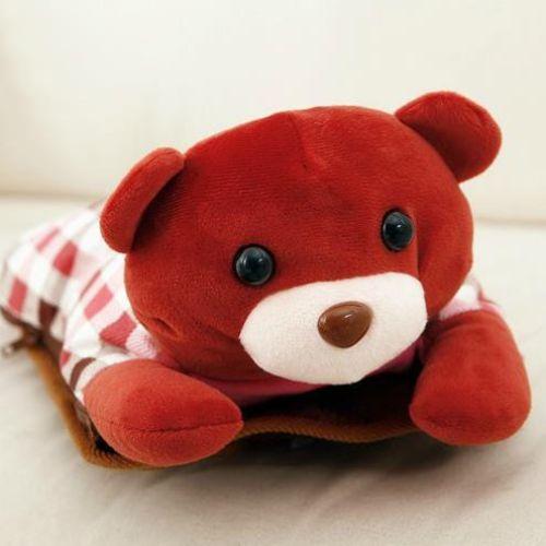 Túi Sưởi Ấm Lưng Họa Tiết Gấu Đa Năng (1 Sản Phẩm)- Dùng Điện  - Màu Nâu - Mẫu TSC0129