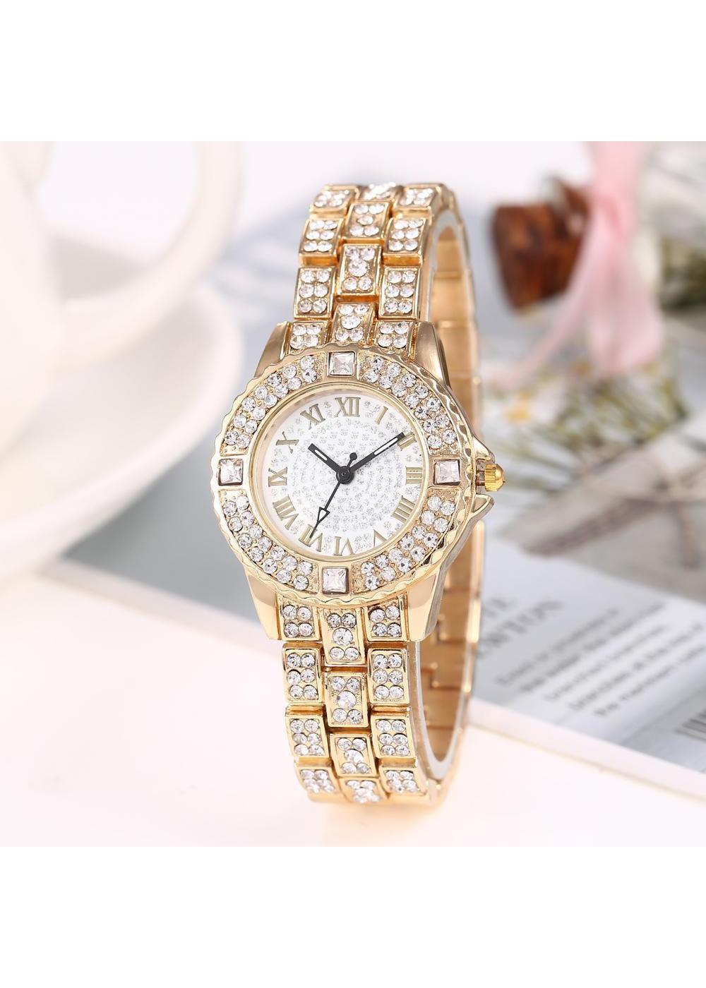 Đồng hồ thời trang nữ mặt và dây hợp kim đính đá quý cô sành điệu ZO48