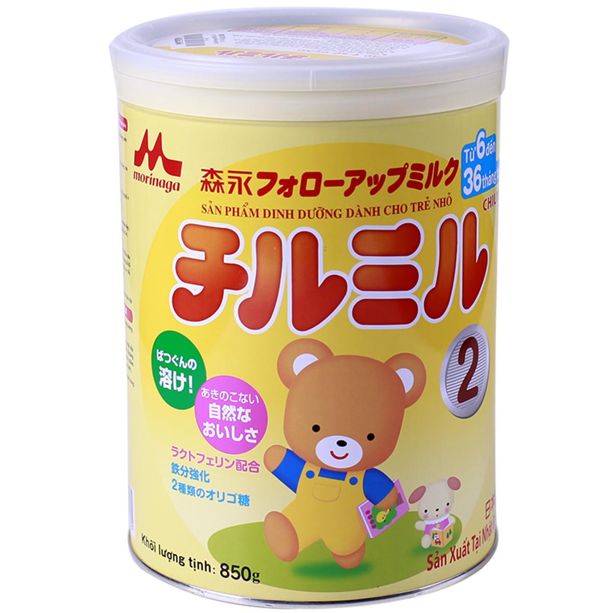 Sữa bột Morigana Chilmi số 2 850g