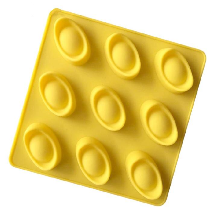 Khuôn silicon làm thạch rau câu, socola 9 đồng ngân lượng, thỏi vàng