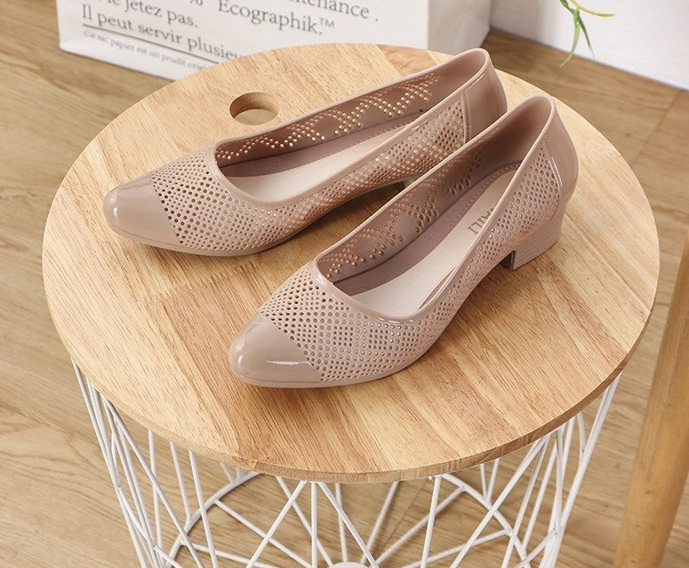 Giày dép nhựa PVC thời trang chống nước mùa mưa