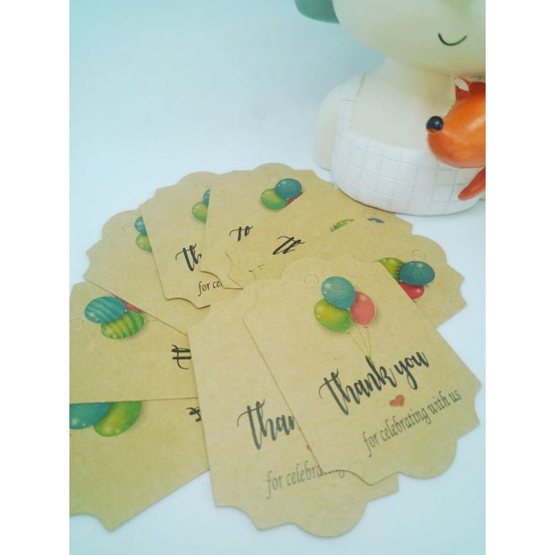 100 tag giấy kraft cảm ơn -35k