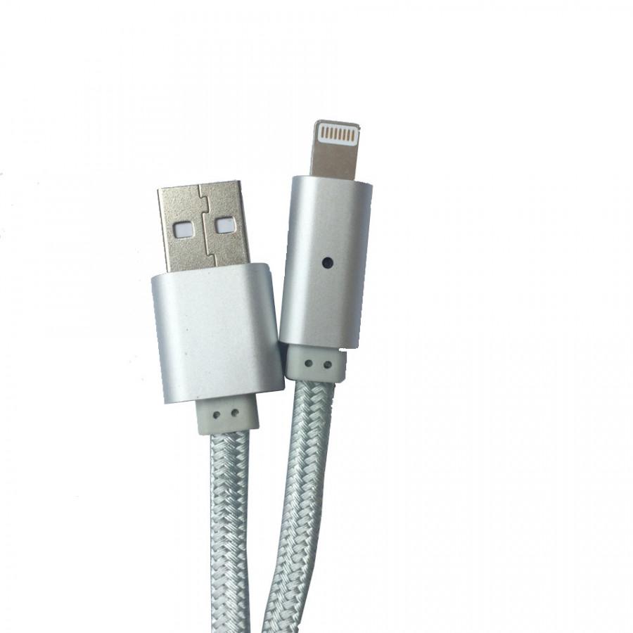 Cáp sạc iPhone/iPad eData U11 dây dù 1m chống đứt tự ngắt đèn khi pin đầy - Hàng Chính Hãng