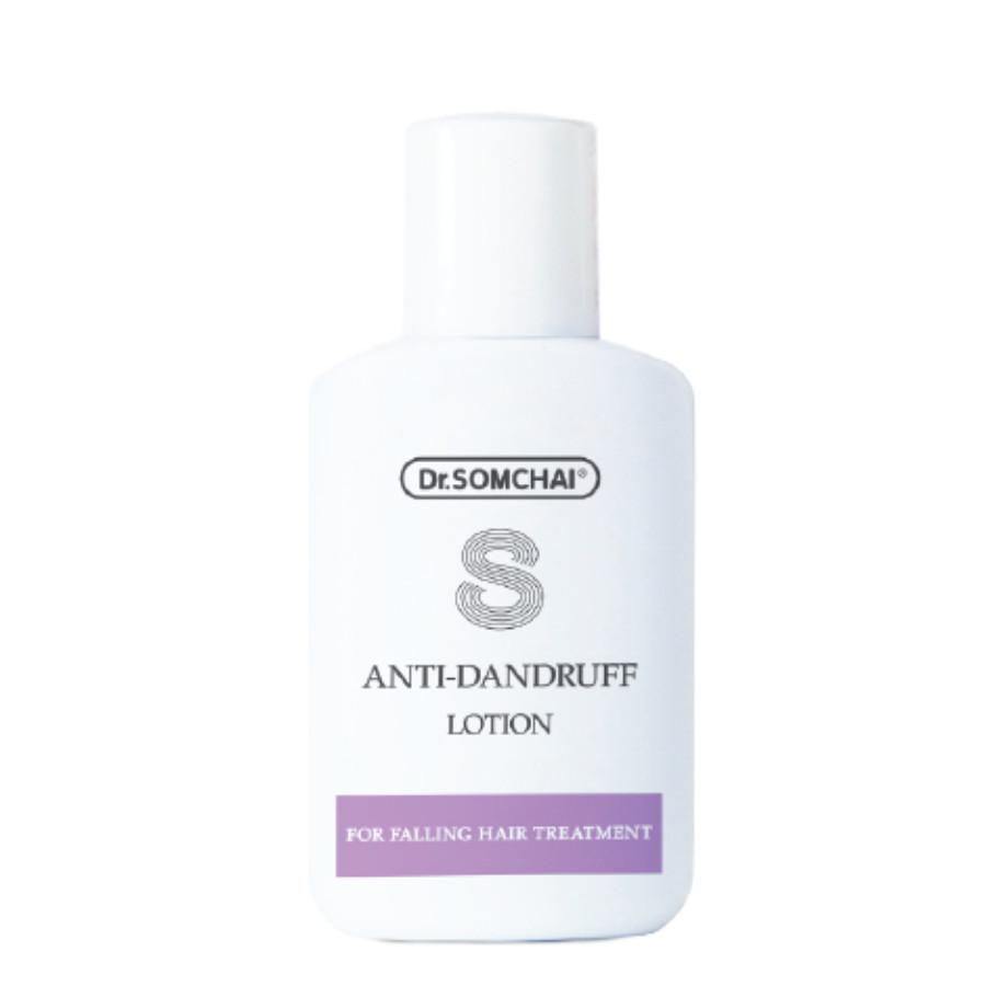 Lotion dưỡng da giúp làm sạch da đầu, giảm rụng tóc cho bạn mái tóc mềm mại, bóng mượt Dr. Somchai Anti-dandruff Lotion 30ml